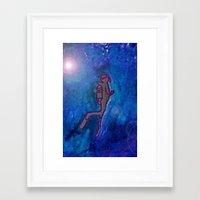 scuba Framed Art Prints featuring Scuba  by Anaasofiac