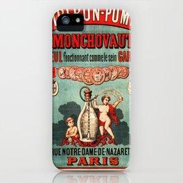 Vintage poster - Biberon-Pompe iPhone Case