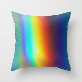 Acid Rainbow Throw Pillow