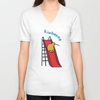 kiwi V-neck T-shirts featuring Kiwi by Picomodi