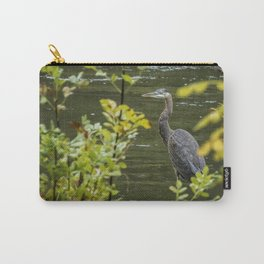 Great Blue Heron Through Autumn Leaves Carry-All Pouch