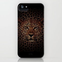 LEOPARD KING iPhone Case