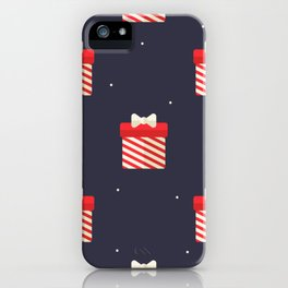 Red Christmas Gift Pattern iPhone Case