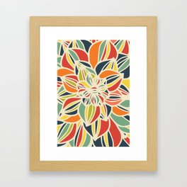 Vintage flower close up Framed Art Print