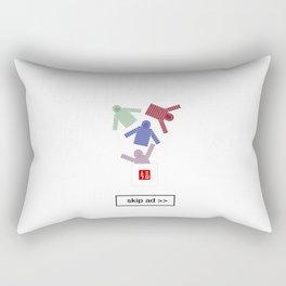 unique ad Rectangular Pillow