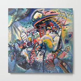 Wassily Kandinsky Moscow Red Square Metal Print