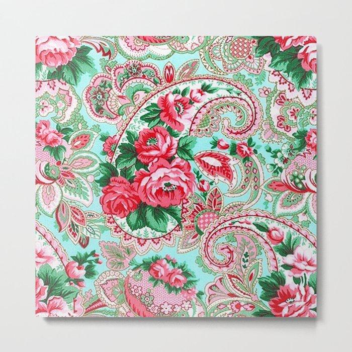 Floral Paisley Pattern 01 Metal Print