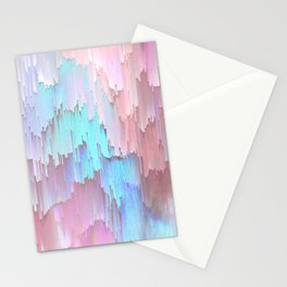 Pastel Glitches Fall Stationery Cards