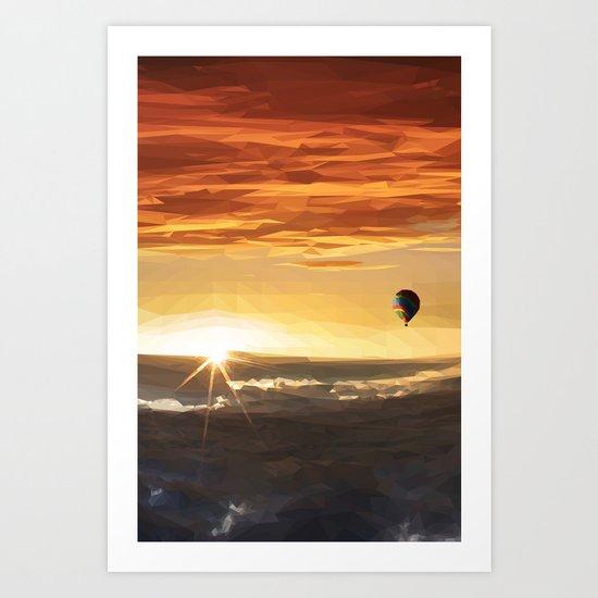 The Orange Adventurer - Sky & Balloon Art Print