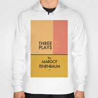 tenenbaum Hoodies featuring Three Plays By Margot Tenenbaum by FunnyFaceArt