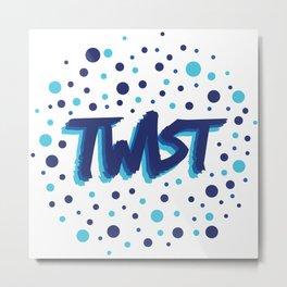 Twist N.3Bis Modele Rond Metal Print