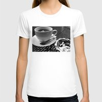 cafe T-shirts featuring cafe by Emily Baker Photography and Design