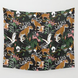 Leopards at night Wall Tapestry