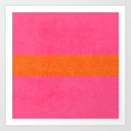 hot pink and orange classic  Art Print