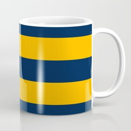 Slate Blue and Golden Yellow Stripes Coffee Mug