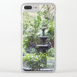 New Orleans Cafe Fountain Clear iPhone Case