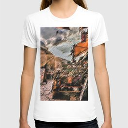 Good Morning Sarajevo Landscape Painting by Jeanpaul Ferro T-shirt