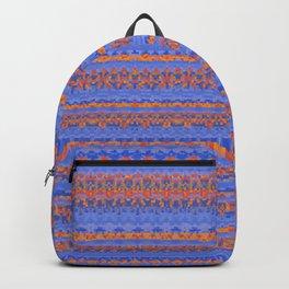 Blue and Orange Patterned Stripes Backpack