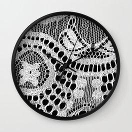 White Lace Pattern Wall Clock