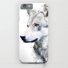 Watercolor wolf iPhone Case