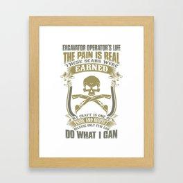 Excavator Framed Art Print