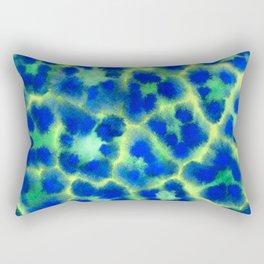 Blue leopard Rectangular Pillow