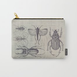 Vintage Beetles And Bugs Carry-All Pouch