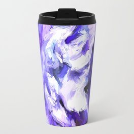 Purple and White Flower with Reflection Travel Mug