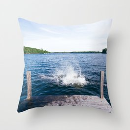 Lake Splash Throw Pillow