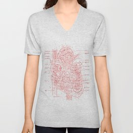 Chambers in Red Unisex V-Neck