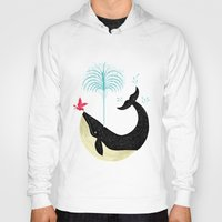 strong Hoodies featuring The Bird and The Whale by Oliver Lake