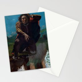 "Gustave Courbet ""The Man Made Mad with Fear"" Stationery Cards"