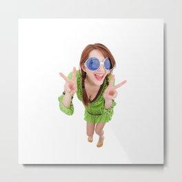 Hippie Chick Metal Print