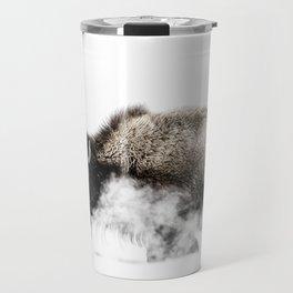 Bison Yellowstone Winter Travel Mug