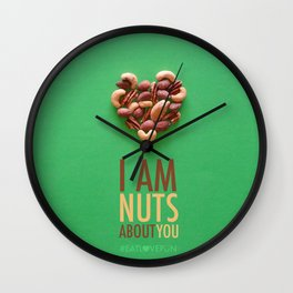 I am Nuts about You Wall Clock