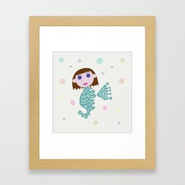 Sea Horse Lady Framed Art Print