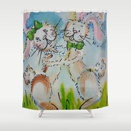 Bunny Hop Shower Curtain