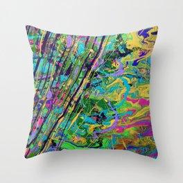 Mardi Gras Marble Throw Pillow