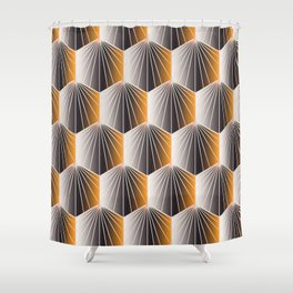 Glam Rock Peach Shower Curtain