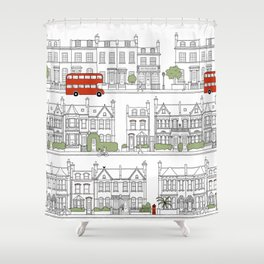 London houses Shower Curtain