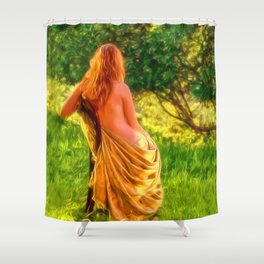 A MUSE Shower Curtain