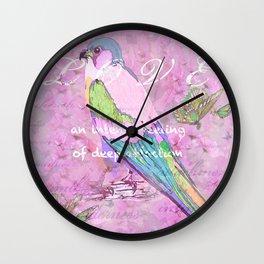 BIRD LOVE AND BUTTERFLIES Wall Clock