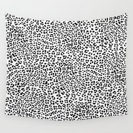 Black and White Snow Leopard Wall Tapestry