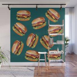 Deluxe Cheeseburger Wall Mural