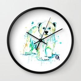 Polar Bear Baby Wall Clock