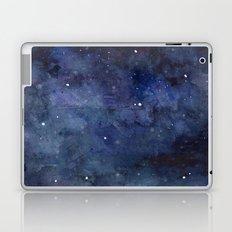 Galaxy Nebula Watercolor Night Sky Stars Outer Space Blue Texture Laptop & iPad Skin