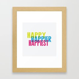 Happy just cause Framed Art Print
