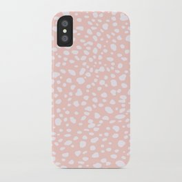 Pink Coral Polka Dots iPhone Case