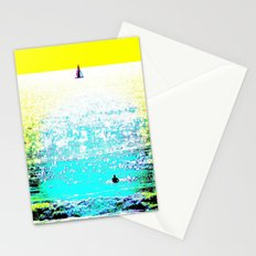 Sailboat and Swimmer (2c) Stationery Cards