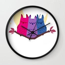 Bisexuowls Wall Clock